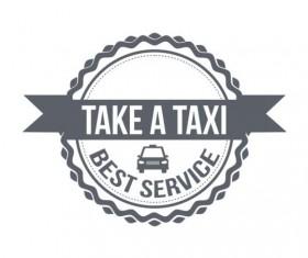 Gray taxi labels set vector 15