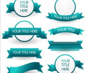 Green ribbon and labels vector