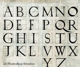 Hand Drawn Albrecht Durer Alphabet Burshes
