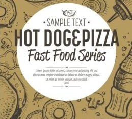 Hand drawn fast food banners vector 04
