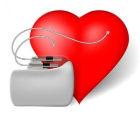 Heart with healthy medical background vector 04