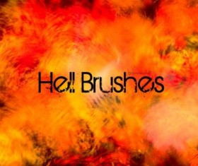 Hell photoshop brushes
