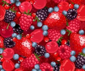 Juicy berries seamless pattern vector