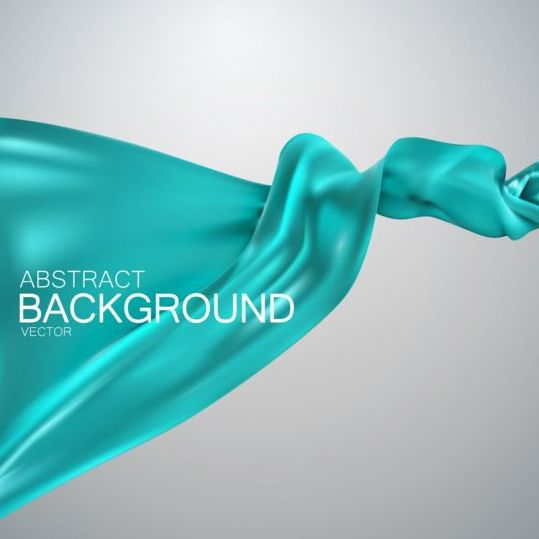 Light green silk fabric background vector