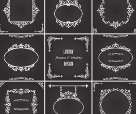 Luxury frame and borders vectors material