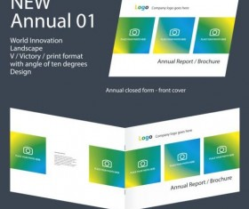 New Annual Brochure design layout vector 01