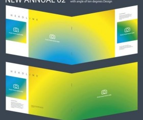 New Annual Brochure design layout vector 02