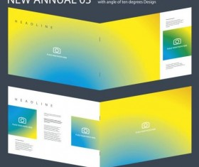 New Annual Brochure design layout vector 03