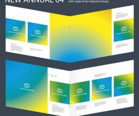 New Annual Brochure design layout vector 04