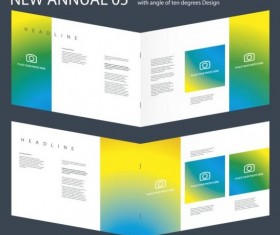 New Annual Brochure design layout vector 05