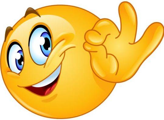 Ok sign emoticon icon - Emoticons Icons free download