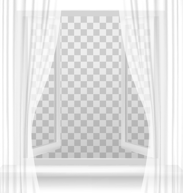 open window with transparent background vector free download
