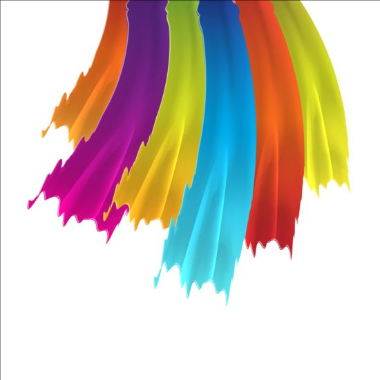 Paints brush background vector 03