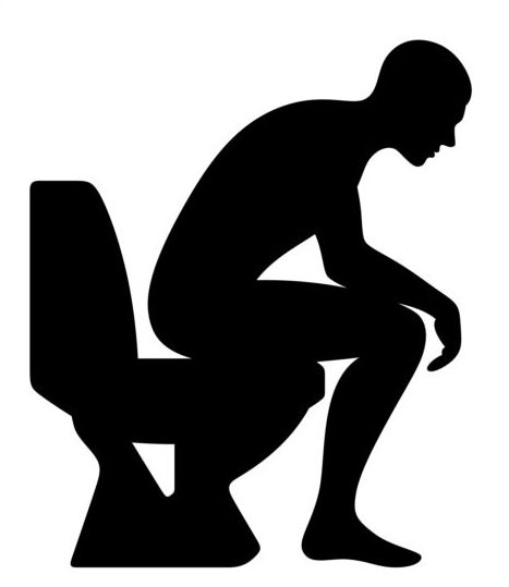 People with toilet silhouettes vector