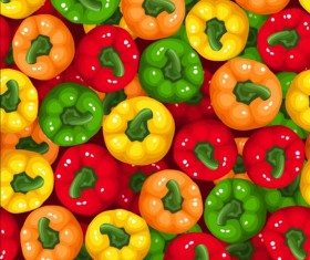 Pepper seamless pattern vectors