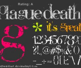 Plague Death Fonts