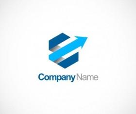 Polygon arrow 3D company logo vector