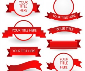 Red ribbon and labels vector