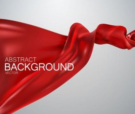 Red silk fabric background vector 01