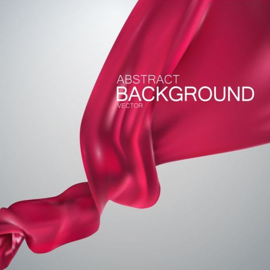 Red silk fabric background vector 02