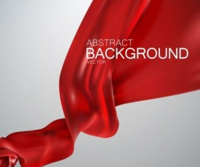 Red silk fabric background vector 04