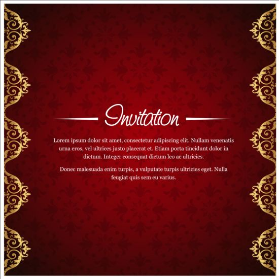 Red with golden invitation background vector 01 vector red with golden invitation background vector 01 stopboris Image collections