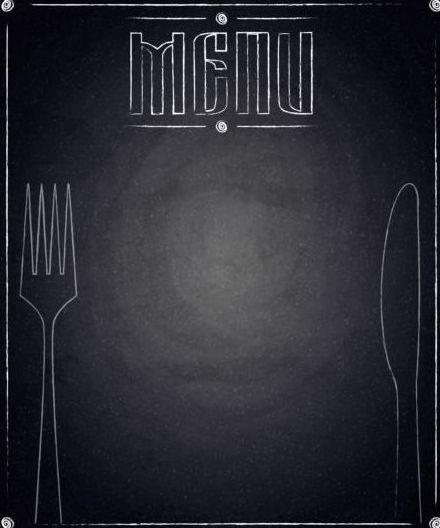 Blank Calendar Design : Restaurant menu with blackboard background vector