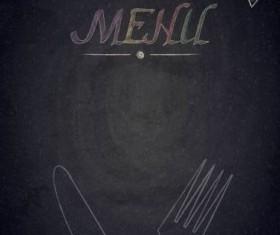 Restaurant menu with blackboard background vector 28