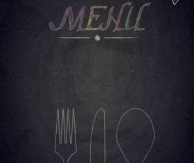 Restaurant menu with blackboard background vector 29