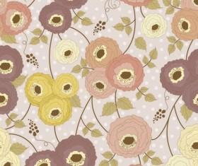 Retro flower seamless pattern vector