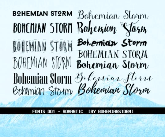 Romantic Styles Fonts
