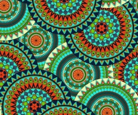 Round mandala seamless pattern vector 07
