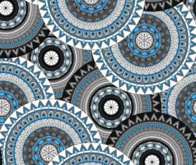 Round mandala seamless pattern vector 08