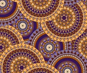 Round mandala seamless pattern vector 09