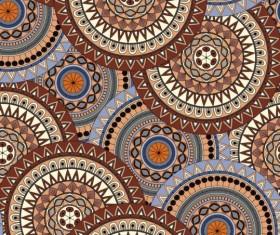Round mandala seamless pattern vector 10