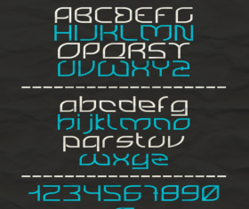 Rounded creative fonts