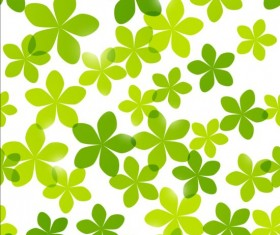 Seamless pattern with green flowers vector 01