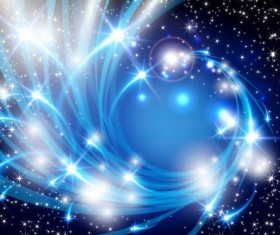 Shiny star light with blue abstract background vector