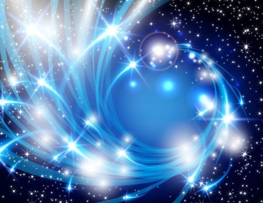 Shiny star light with blue abstract background vector ...