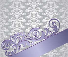 Silver and purple victorian style floral book cover