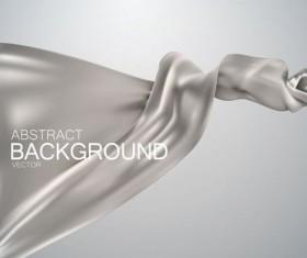 Silver silk fabric background vector