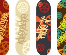 Skateboard design material vector 01