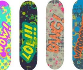 Skateboard design material vector 02