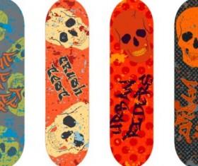 Skateboard design material vector 03