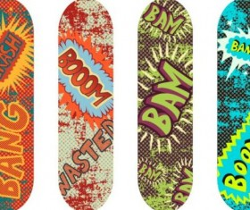 Skateboard design material vector 05