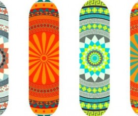 Skateboard design material vector 06