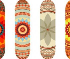 Skateboard design material vector 07