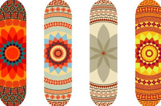 Skateboard design material vector 07