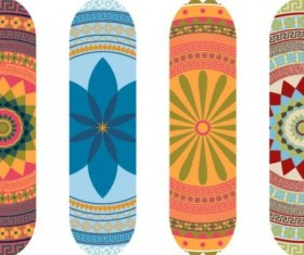 Skateboard design material vector 08