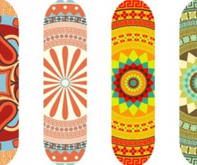 Skateboard design material vector 09